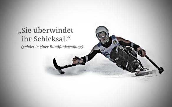 """Foto: Anna Schaffelhuber: """"Sie überwindet ihr Schicksal."""" (gehört in einer Rundfunksendung)"""