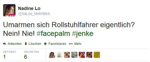 Foto: Screenshot eines Tweets von NaLos_MehrBlick