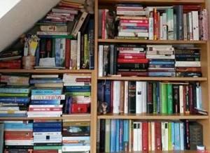 Foto: Zwei Regale, die vollgestopft mit Büchern sind