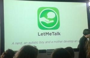 Foto: Startbild der Präsentation zur App LetMeTalk