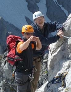 Foto: Falko Nettekoven beim Bergsteigen