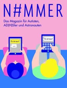 """Foto: Titelblatt des Magazins N#MMER, Mann und Frau schreiben sich digital jeweils eine Nachricht mit dem Inhalt: """"Es ist aus!"""""""