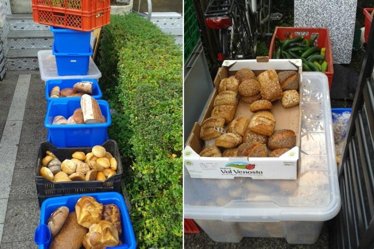 Foto: Zahlreiche Boxen mit Brötchen und Broten