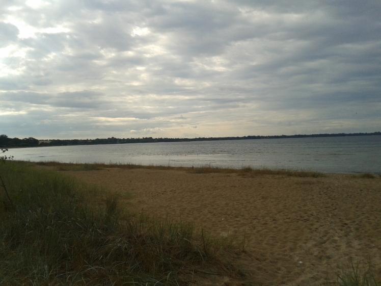 Foto: Blick vom Strand auf die Ostsee