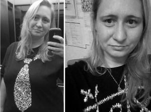 Foto: Nadine von NaLos_MehrBlick auf zwei Fotos mit inkluWAS-Shirts