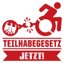 """Grafik: Logo der Kampagne """"Teilhabegesetz jetzt!"""""""