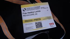 Foto: Mein Presseausweis für die REHACARE 2015