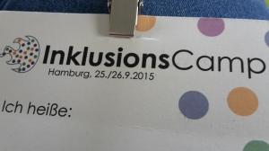 Foto: Namensschild vom InklusionsCamp