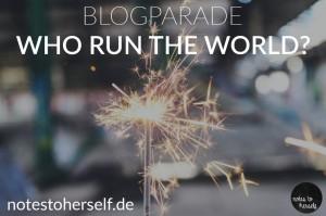 Foto: brennende Wunderkerze mit der Aufschrift: Blogparade Who rund the world?