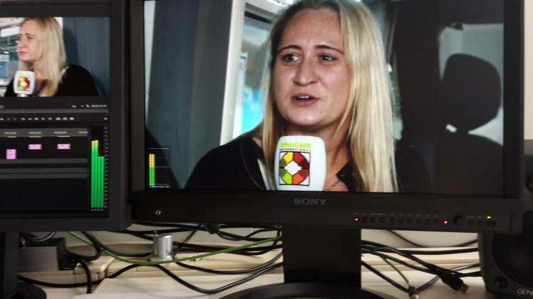 Foto: Computerbildschirm, der ein Standbild von mir zeigt